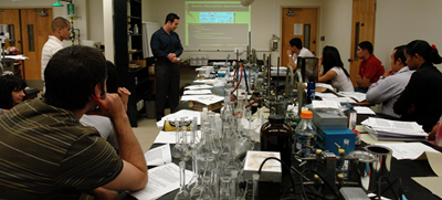 Chemistry students at Fresno State