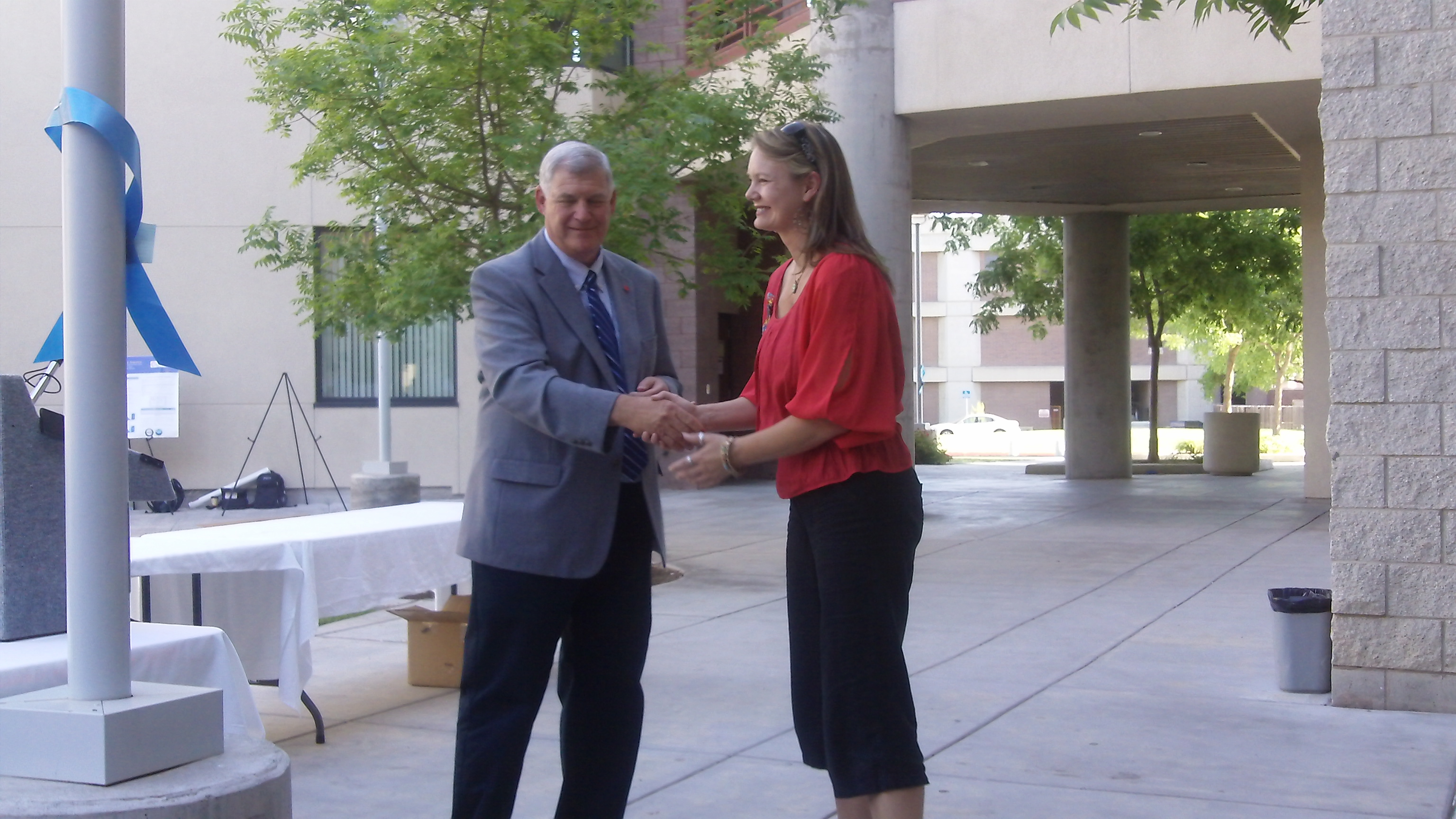 Dean Hoff and Dr. Amanda Adams