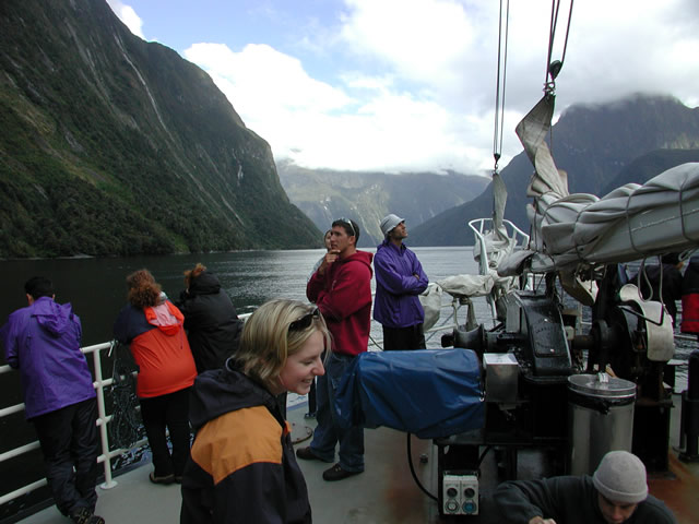 SPS Students in Milford Sound, New Zealand