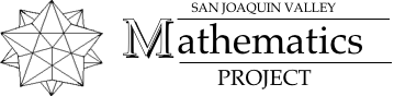San Joaquin Valley Mathematics Project Logo