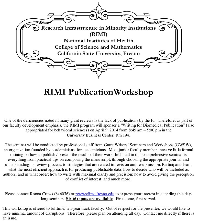 Publisher Workshop Flyer