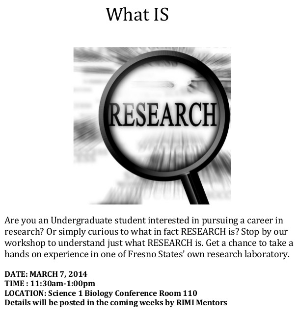What Is Research Flyer